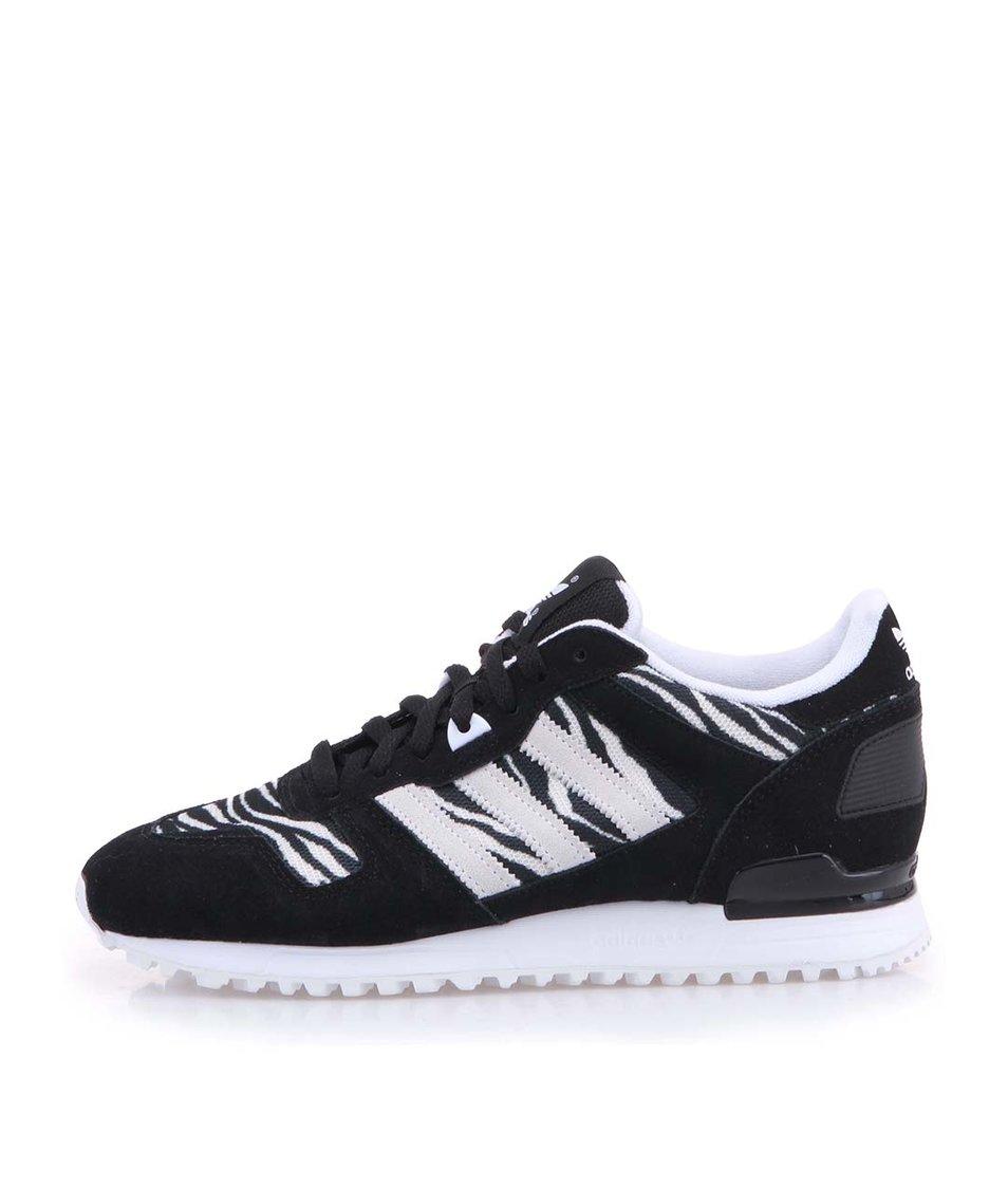 Černo-bílé dámské sportovní boty adidas Originals ZX 700
