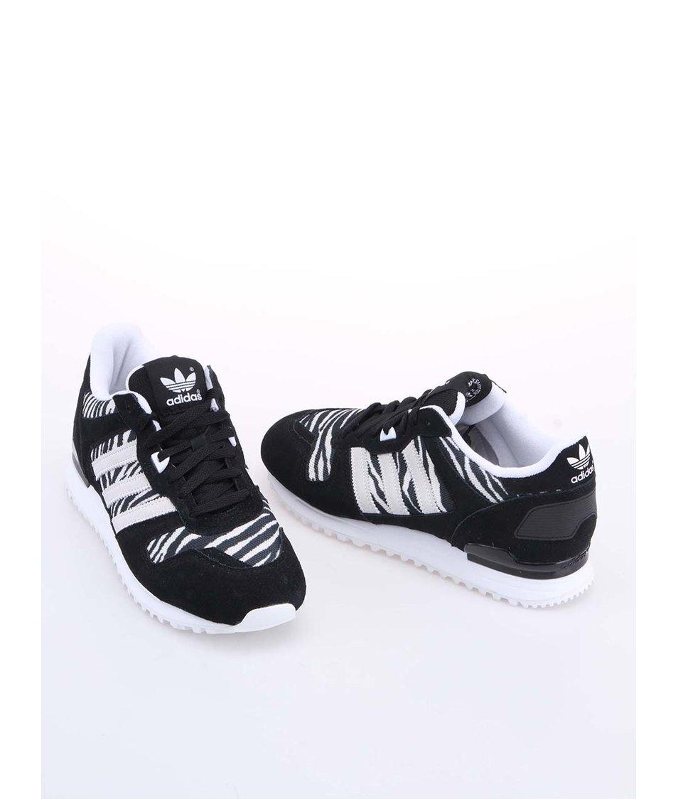 Černo-bílé dámské sportovní boty adidas Originals ZX 700 - Vánoční ... d4157accfa
