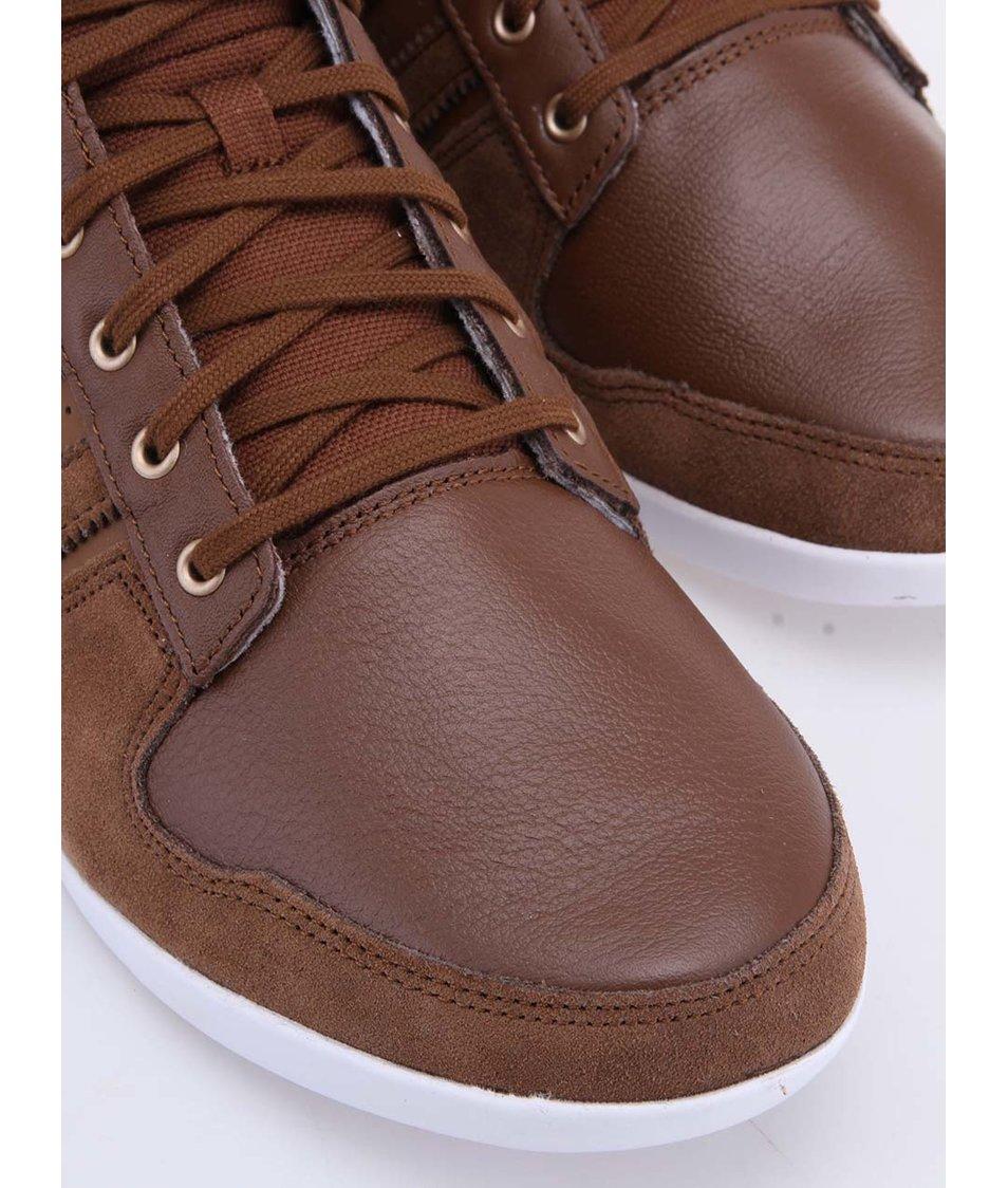 ... Hnědé pánské kožené kotníkové tenisky adidas Originals Plimcana ... d9e35eae411