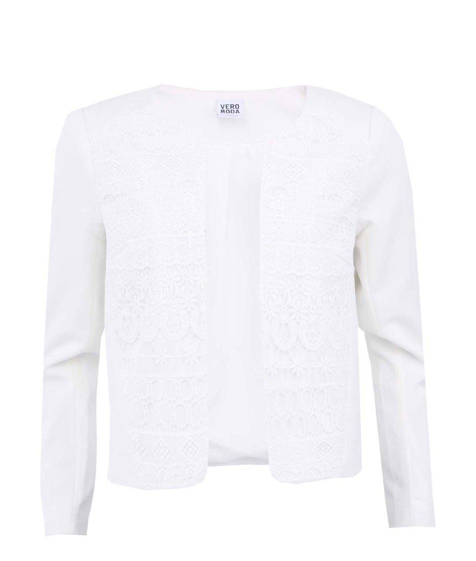 Bílý blejzr s krajkou Vero Moda Lace