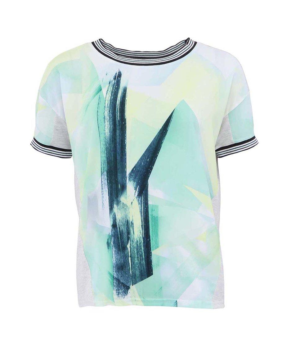 Světle šedé tričko s abstaktním motivem Vero Moda Jacine