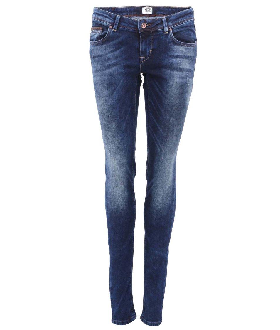 Modré skinny džíny Vero Moda Flashy