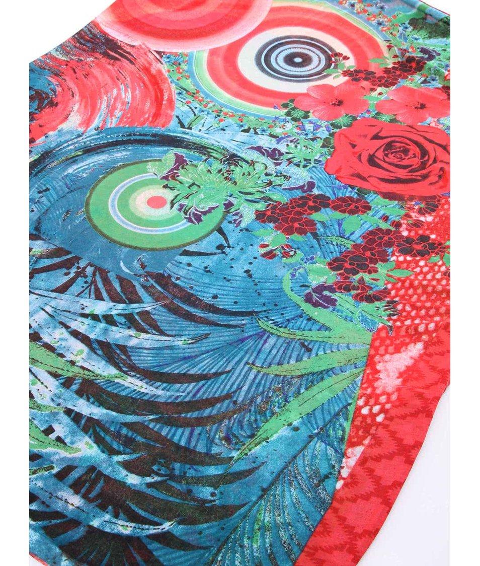 Barevný vzorovaný šátek Desigual Diverdeli