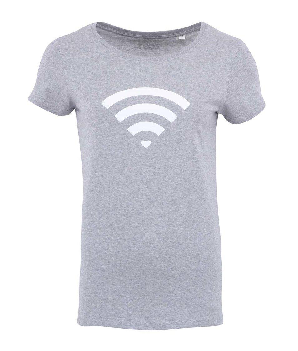 Šedé dámské triko ZOOT Originál Wifi Connection