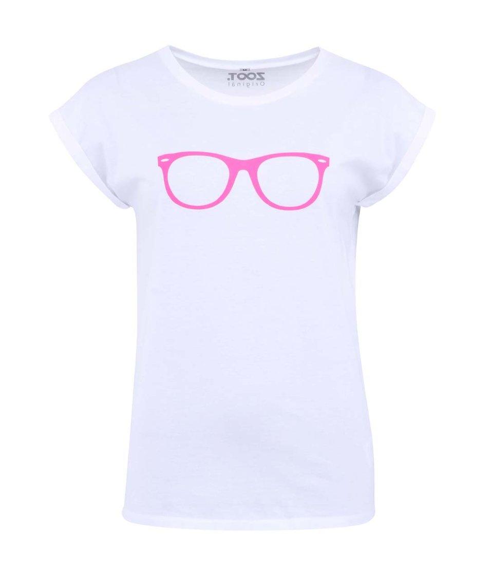 Bílé dámské tričko ZOOT Originál Růžové brýle