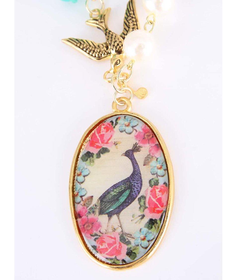 Náhrdelník ve zlaté barvě s přívěsky Disaster Songbird