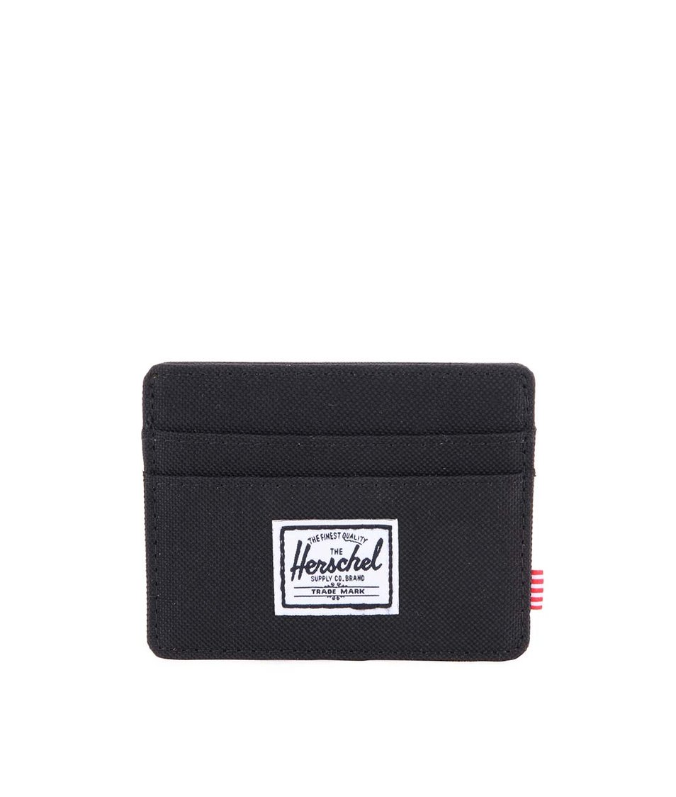 Černá peněženka na karty Herschel Charlie