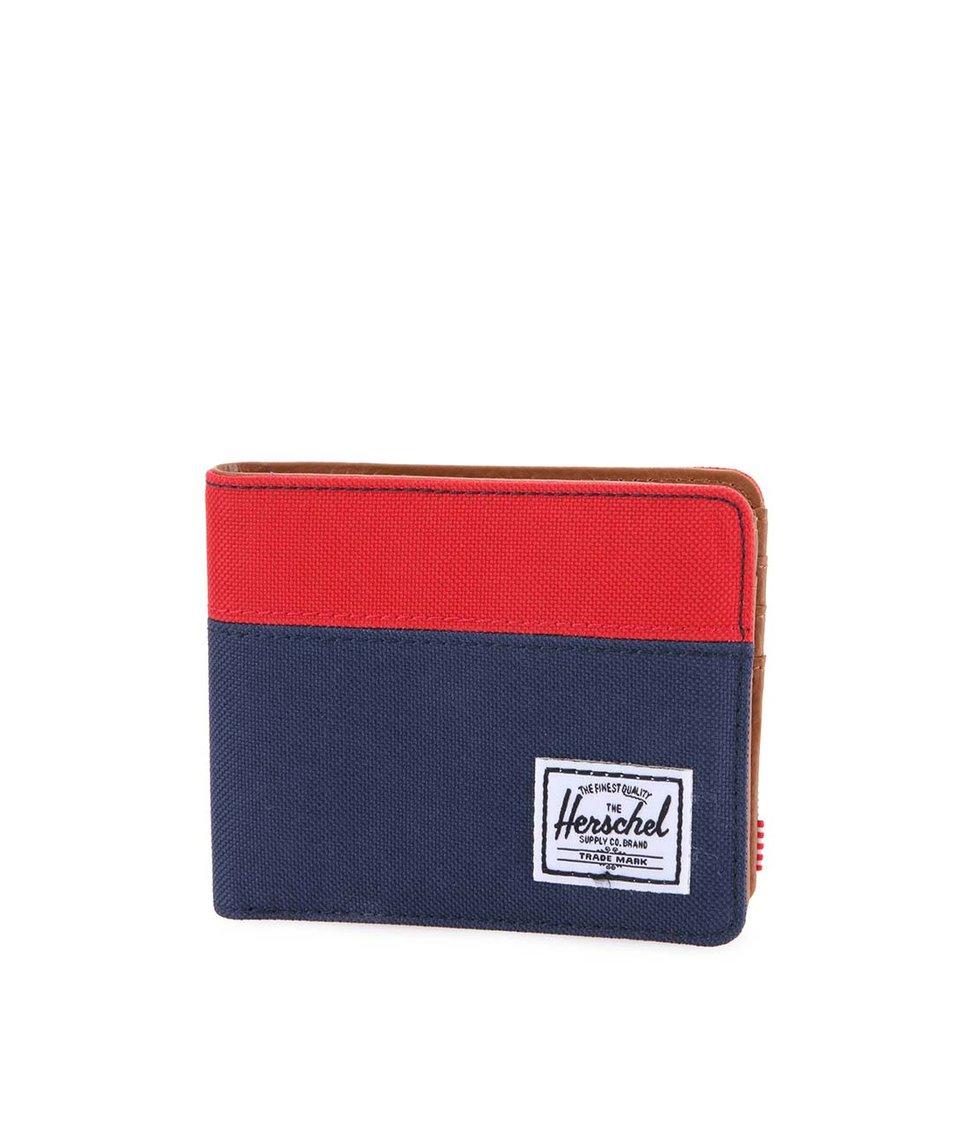 Červeno-modrá pánská peněženka Herschel Hank