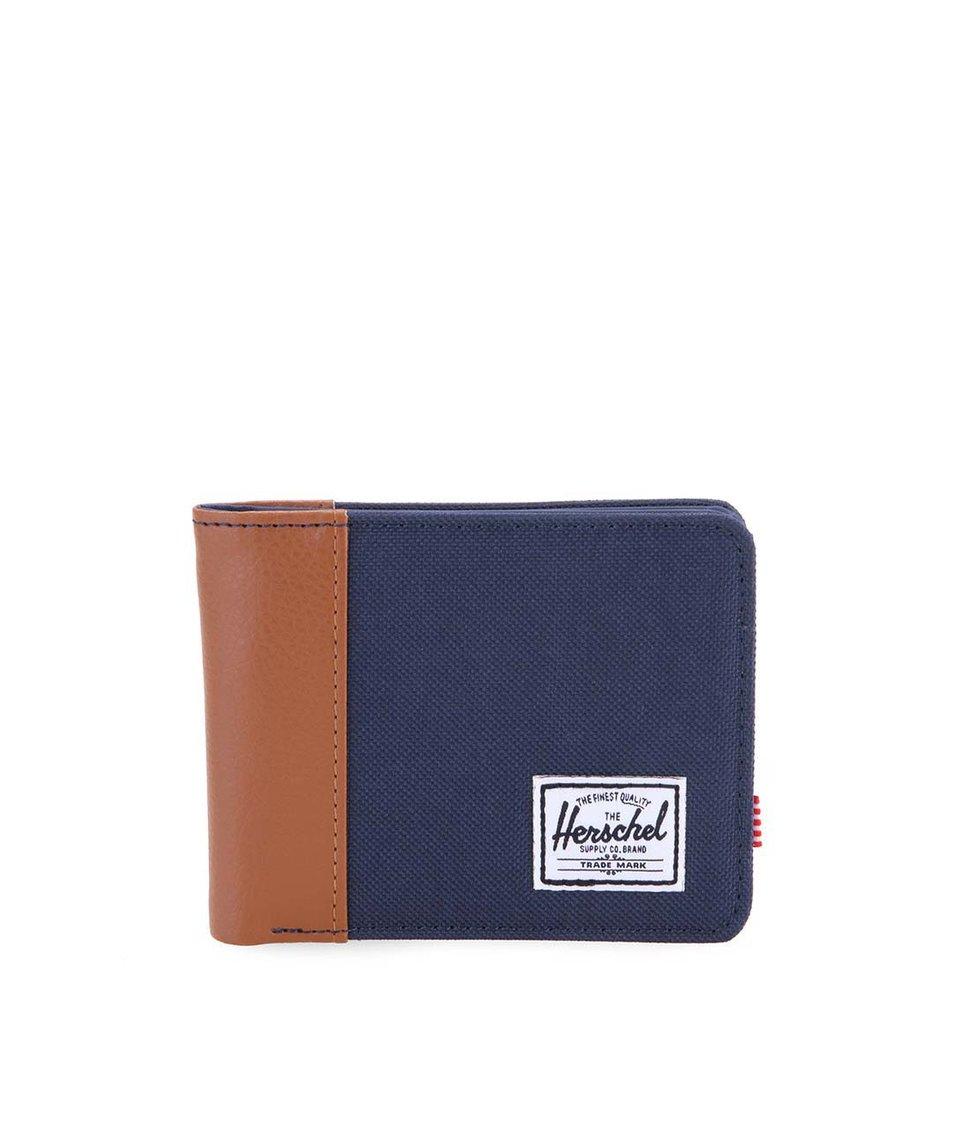 Hnědo-modrá pánská peněženka Herschel Edward