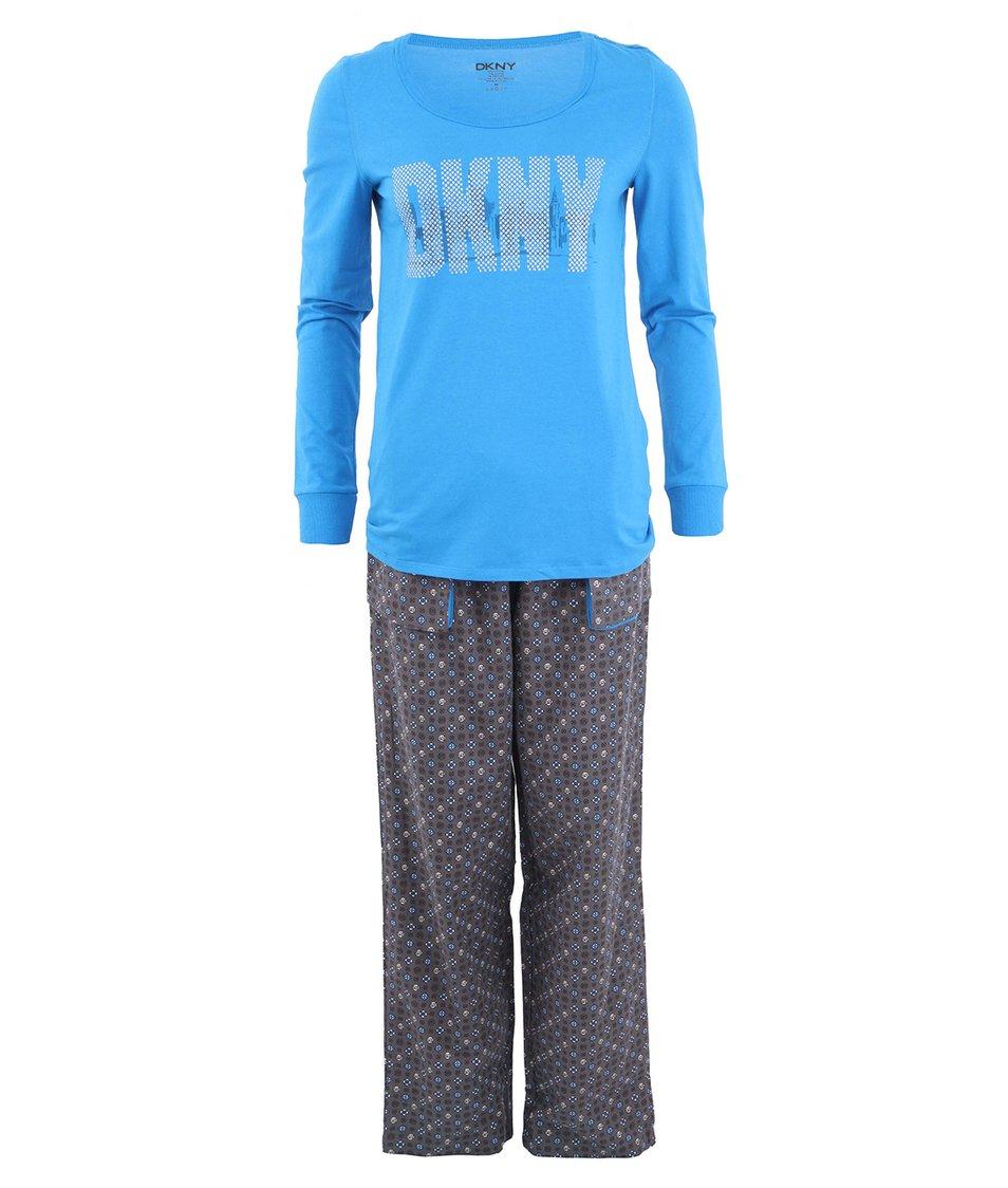 Šedo-modré pyžamo DKNY Shine On