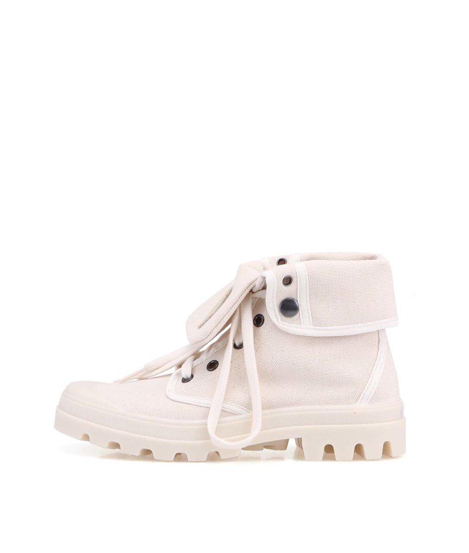 Krémové boty s výraznou podrážkou Tamaris