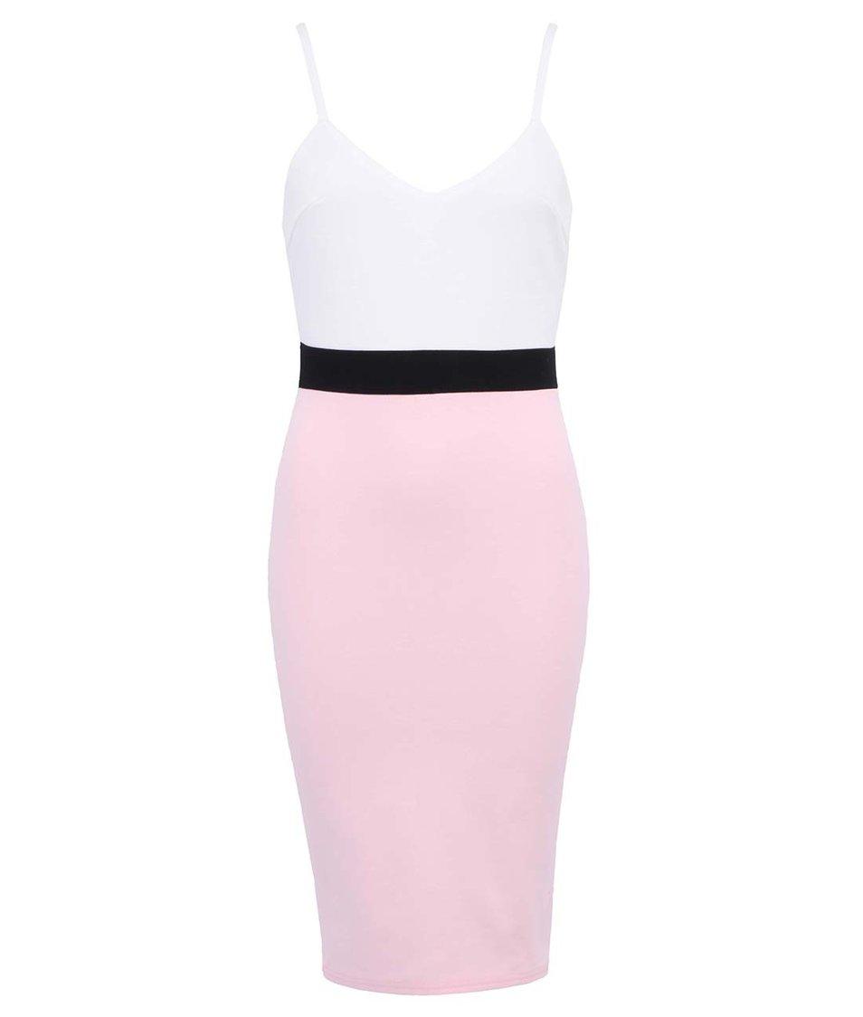 Bílo-růžové šaty AX Paris