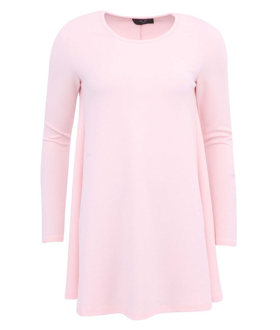 Světle růžové šaty s dlouhým rukávem AX Paris