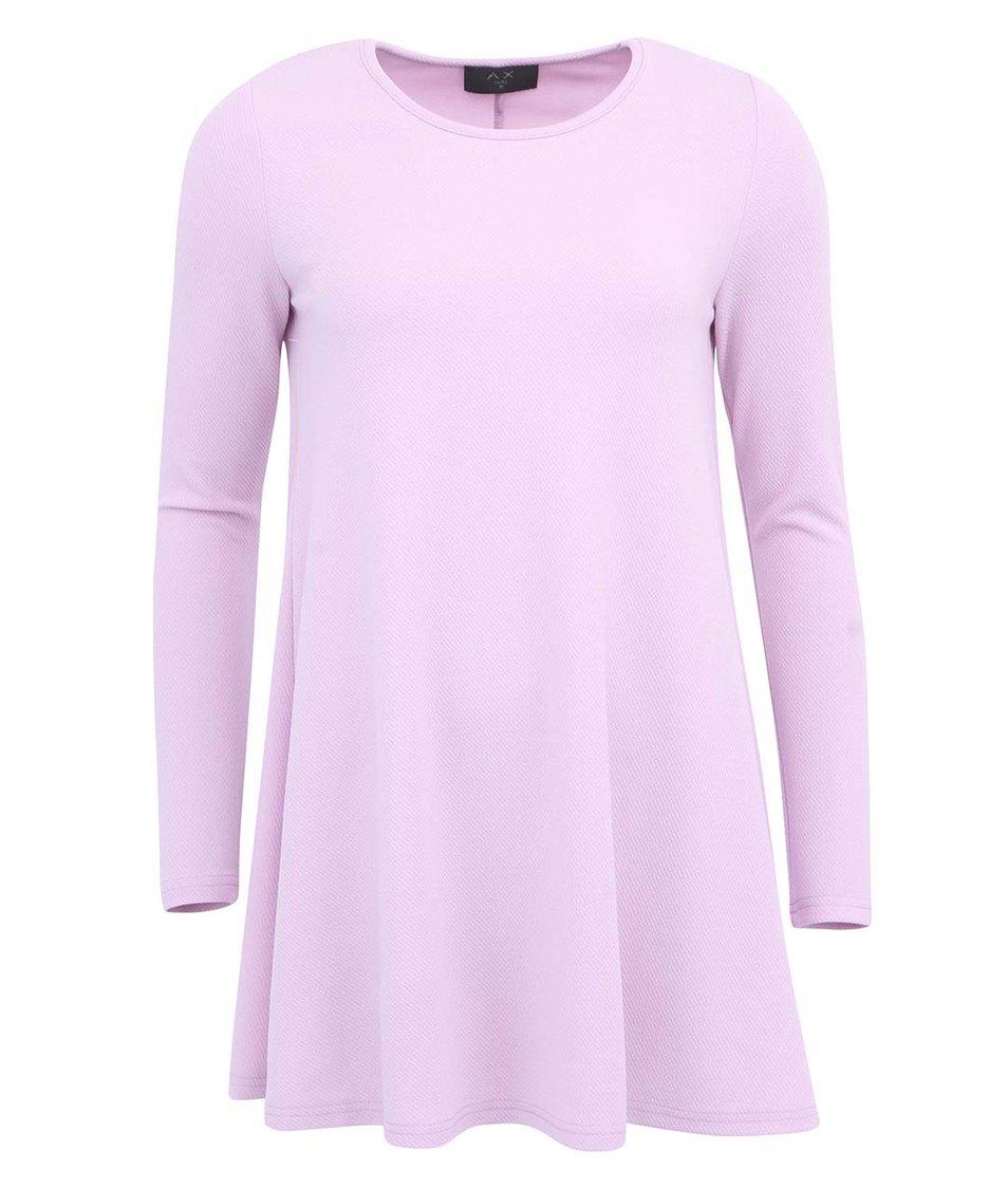 Levandulové šaty s dlouhým rukávem AX Paris