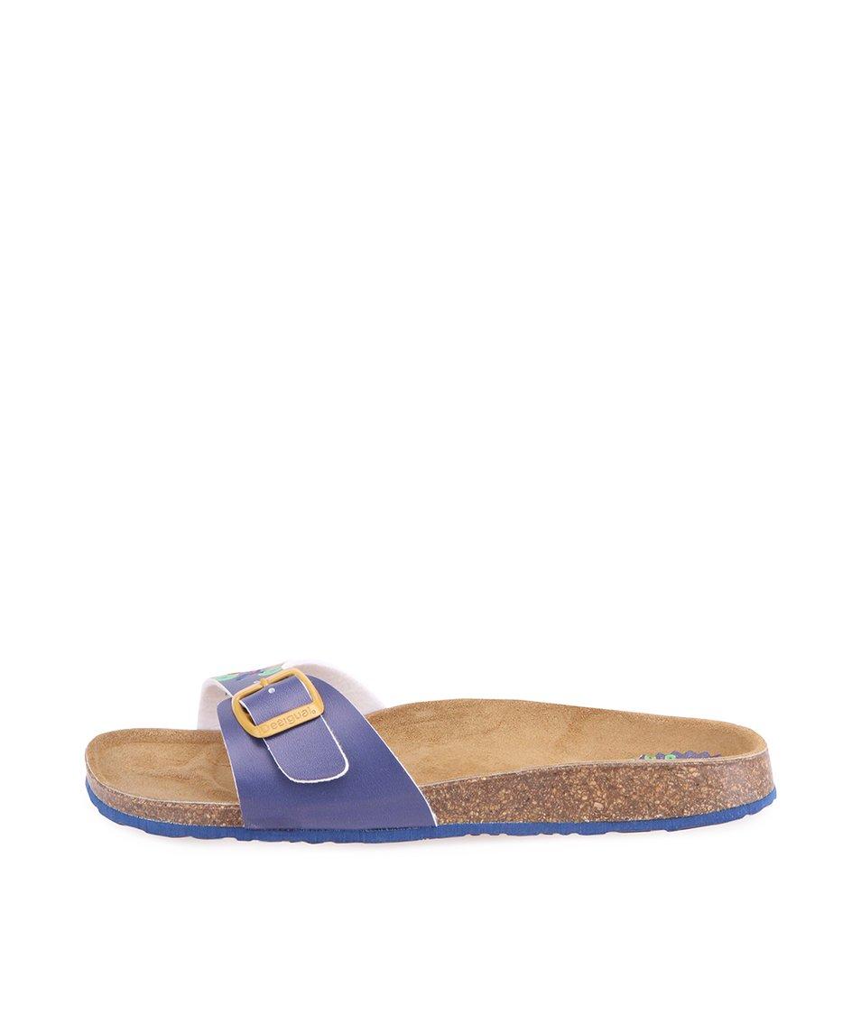 Tmavě modré pantofle Desigual