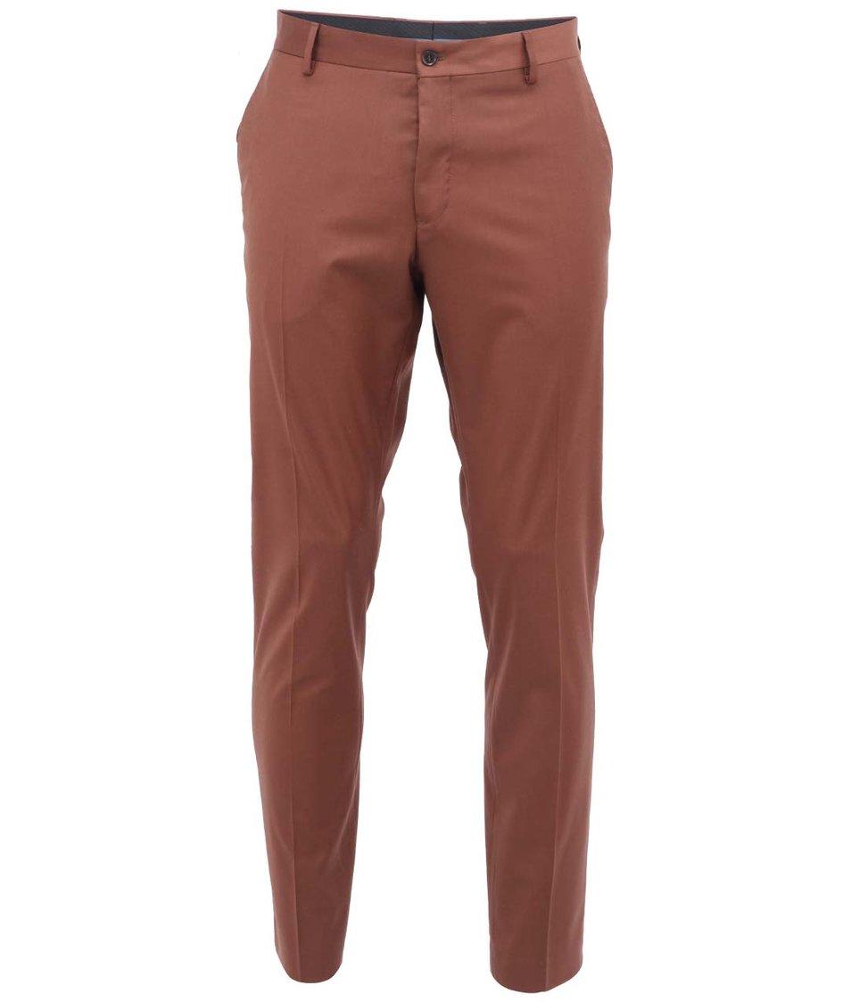 Hnědé kalhoty Selected One Mylo