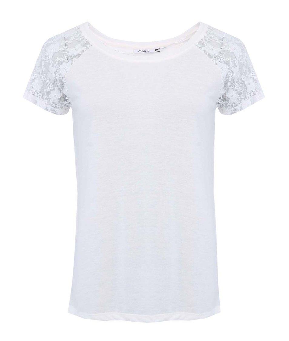 Bílé tričko s rozparkem na zádech  ONLY Back