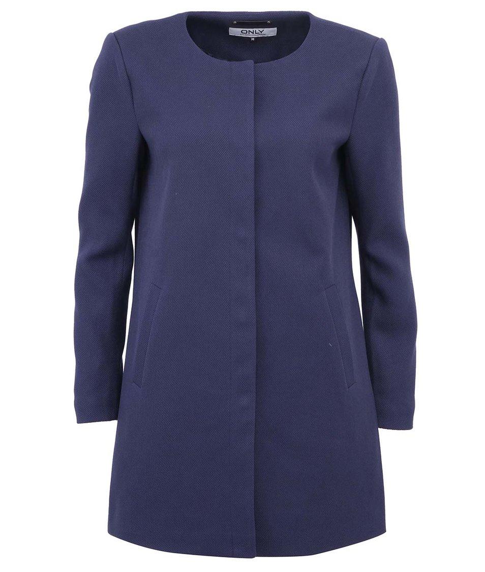 Tmavě modrý kabát ONLY Sidney