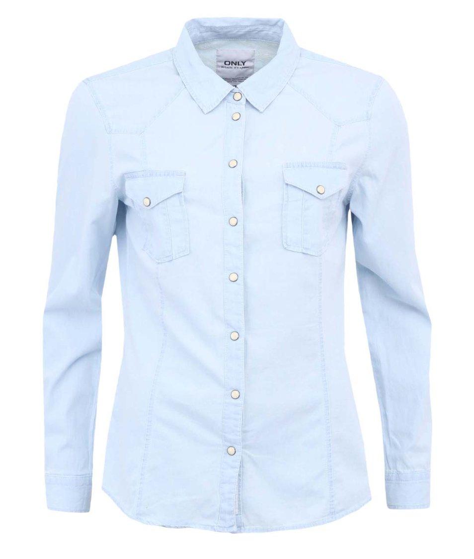 Světle modrá  džínová košile ONLY Amanda