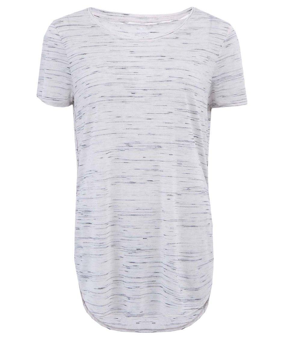 Světle šedé žíhané tričko ONLY Vivi
