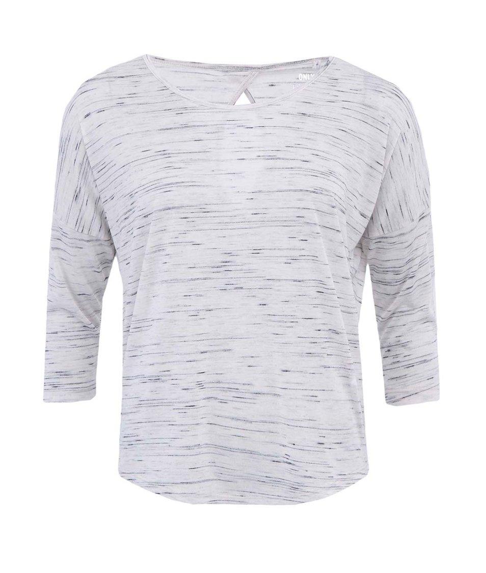 Světle šedé tričko s 3/4 rukávem ONLY Vivi