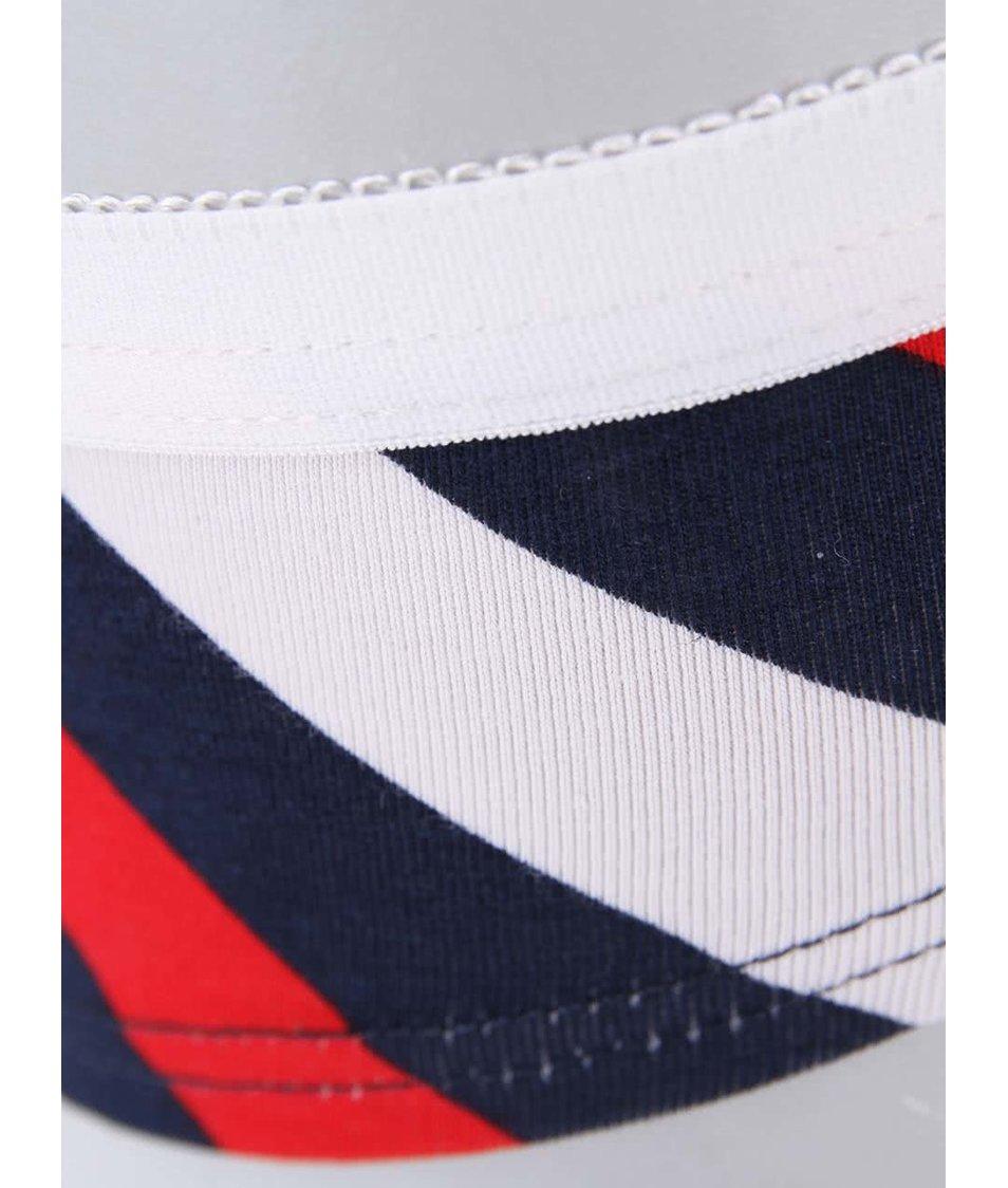 Tříbarevné dámské pruhované kalhotky Happy Socks Polka Stripes