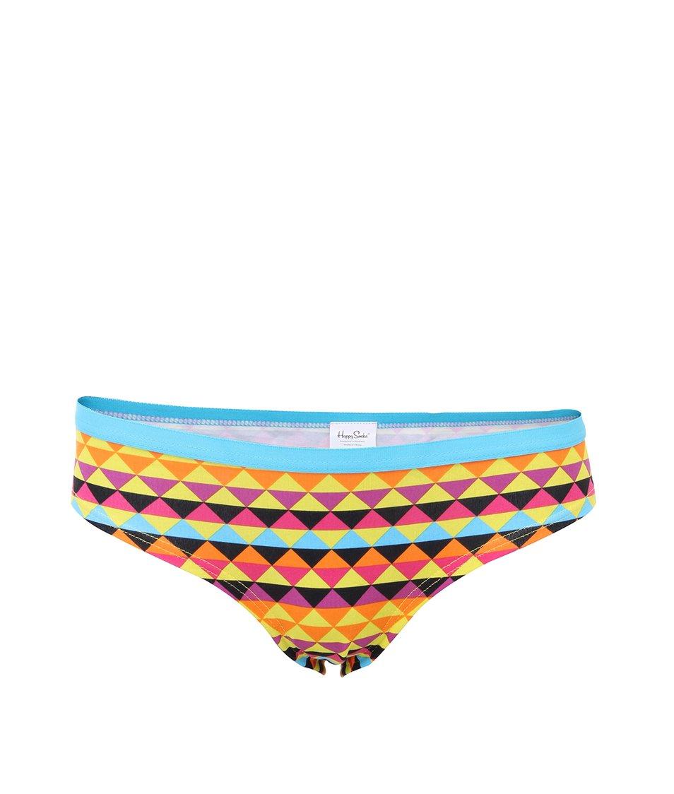 Dámské vzorované kalhotky ve světlých barvách Happy Socks Zig zag