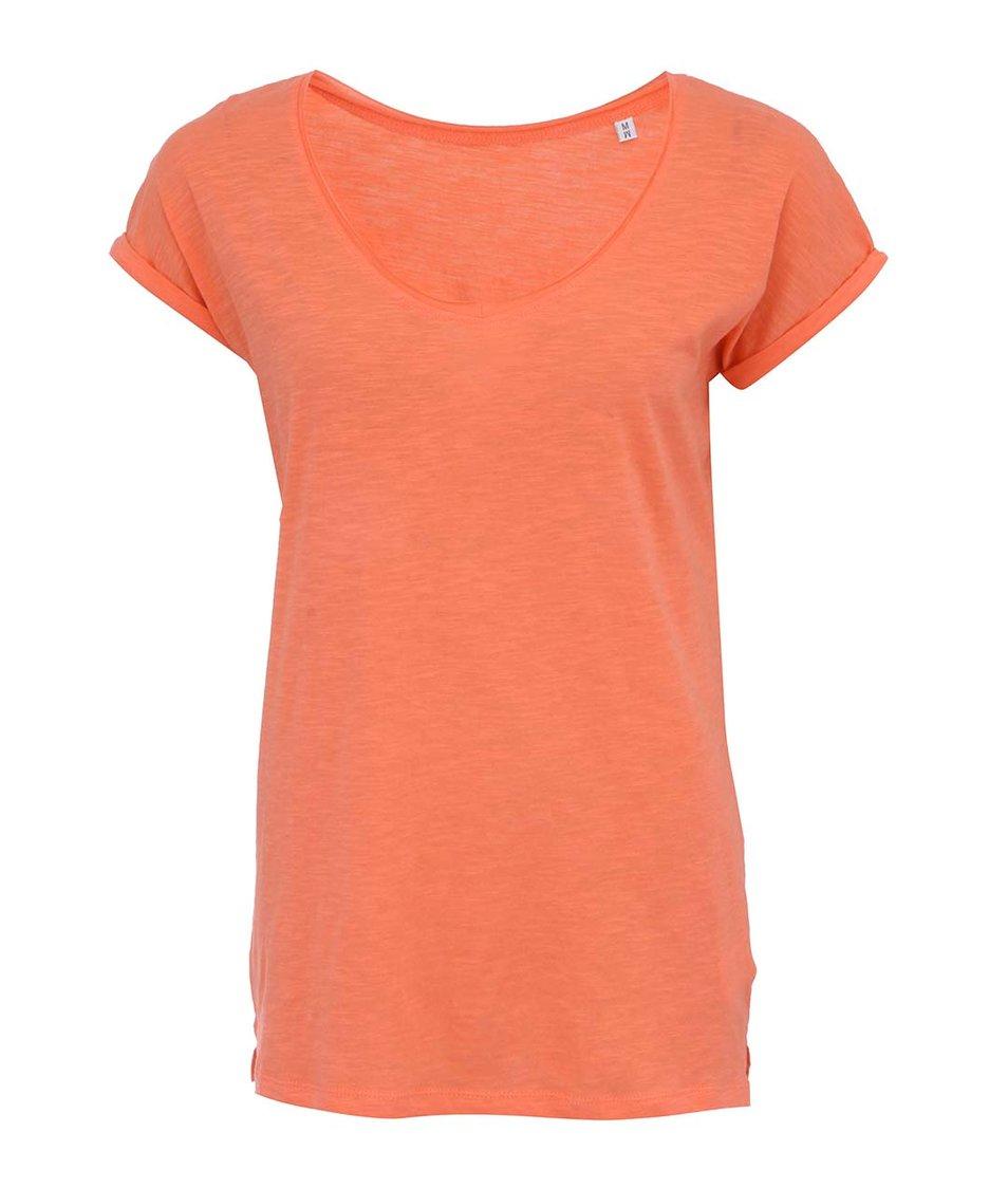 Korálové dámské volnější tričko Stanley & Stella Invents Slub