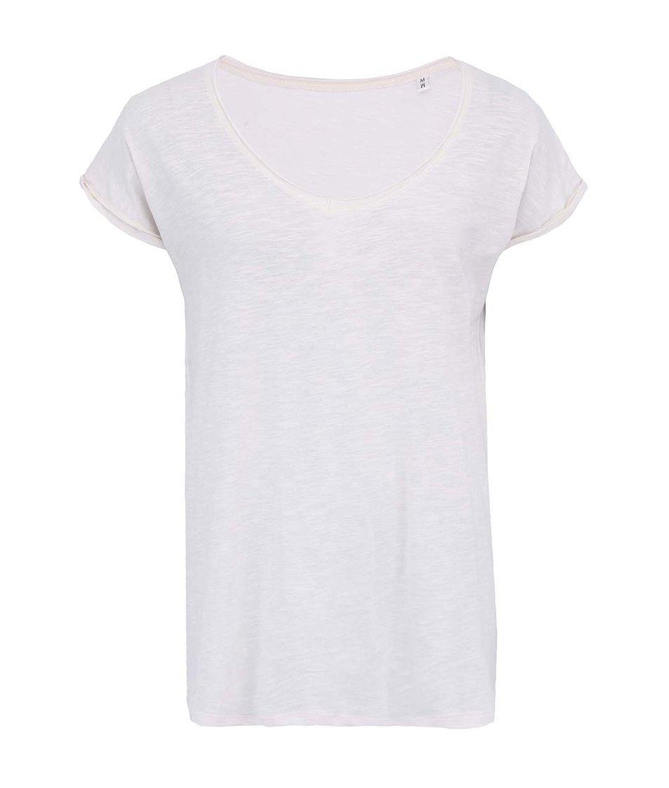 Krémové dámské volnější tričko Stanley & Stella Invents Slub