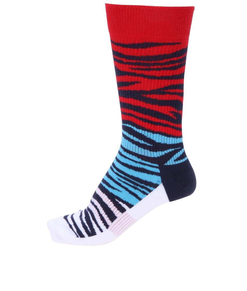 Tříbarevné pánské zebrované ponožky Happy Socks Athletic