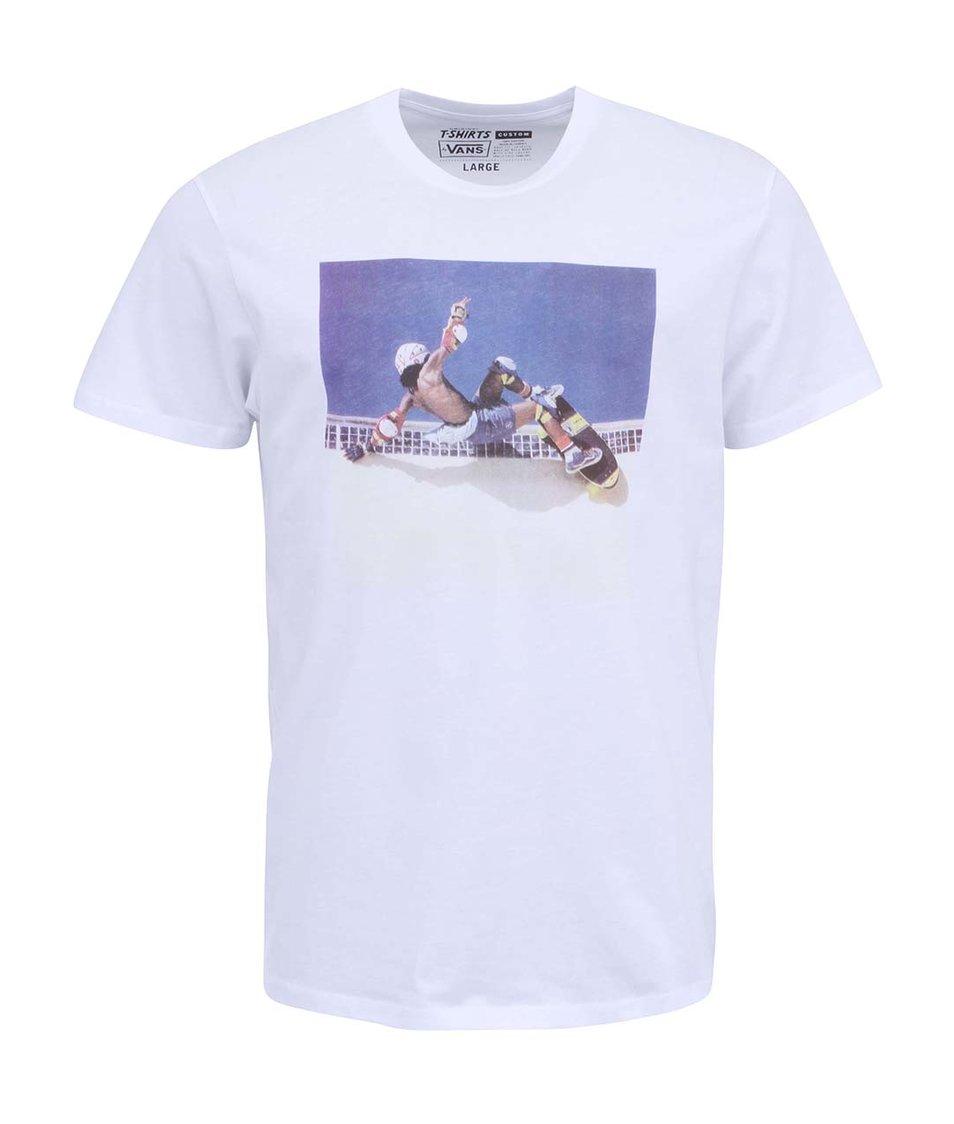 Bílé triko s potiskem Vans Grind Gear