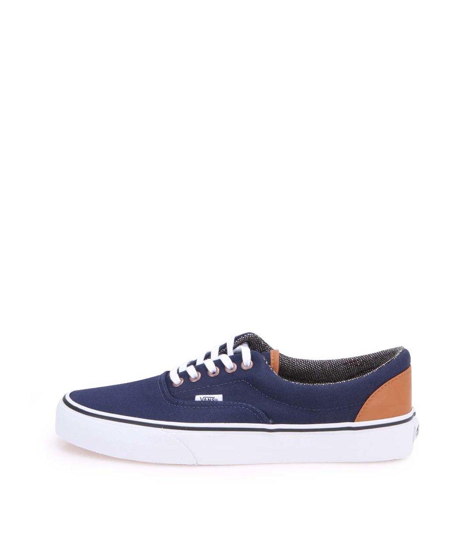 Modré pánské tenisky s hnědými detaily Vans Era