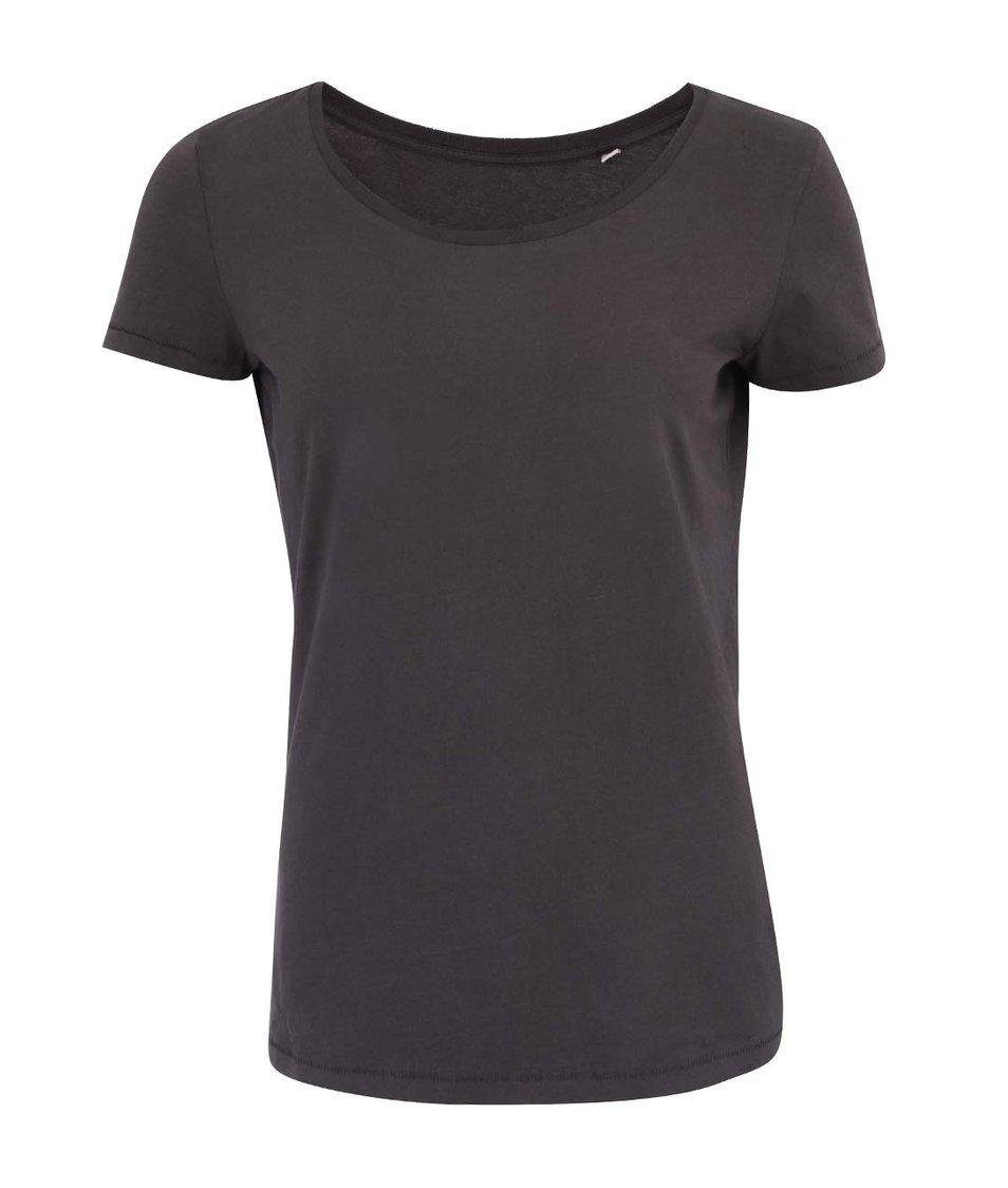 Tmavě šedé dámské tričko Stanley & Stella Loves Vintag