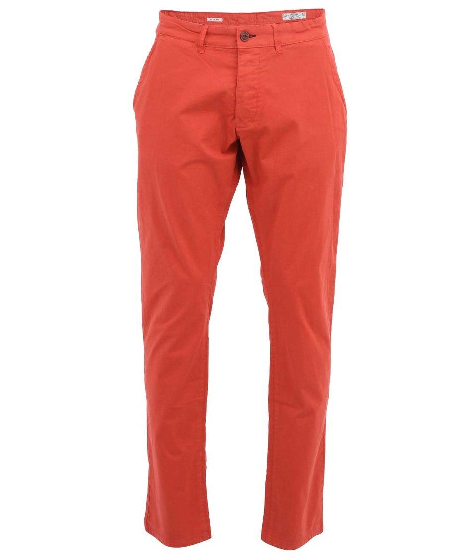 Červené chino kalhoty Jack & Jones Bolton
