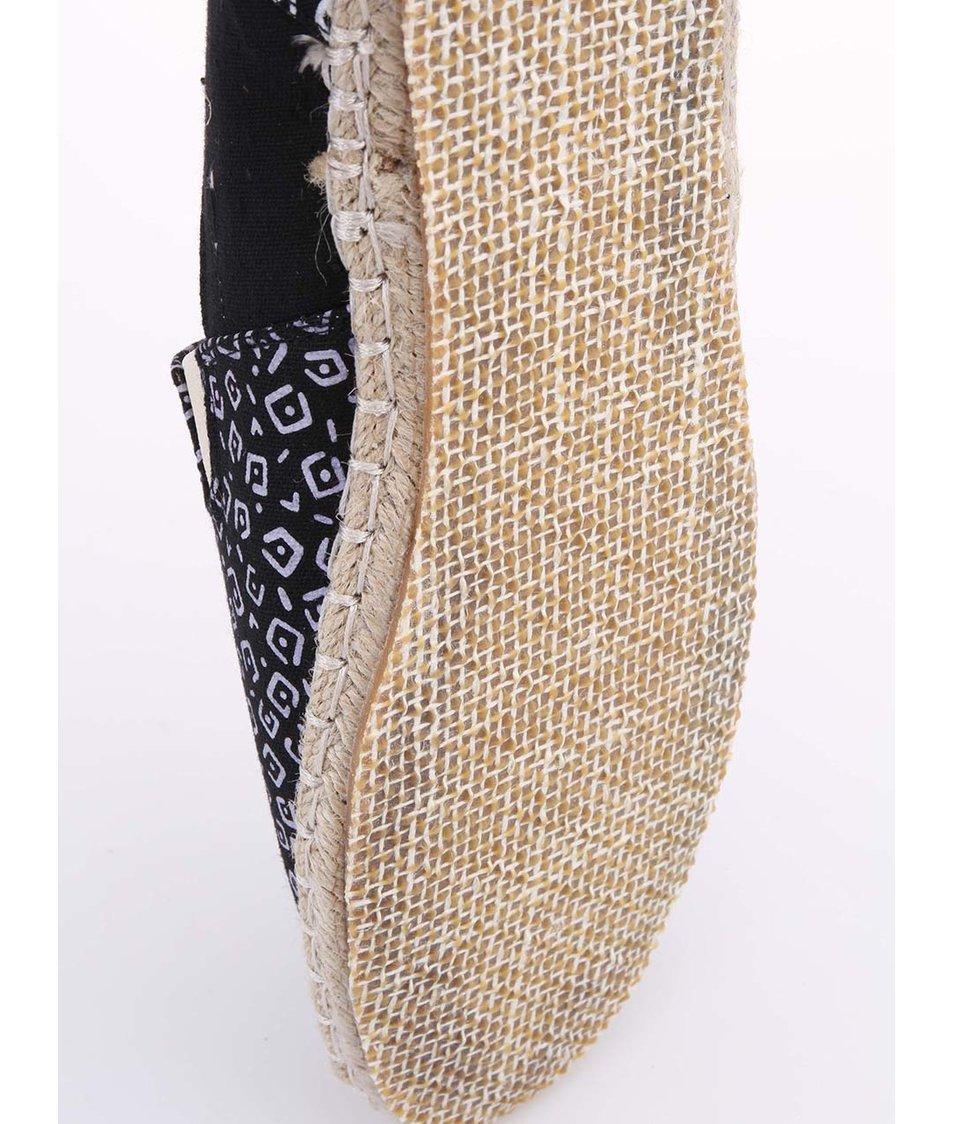 Černé pánské espadrilky s bílým potiskem Bellfield Rudd
