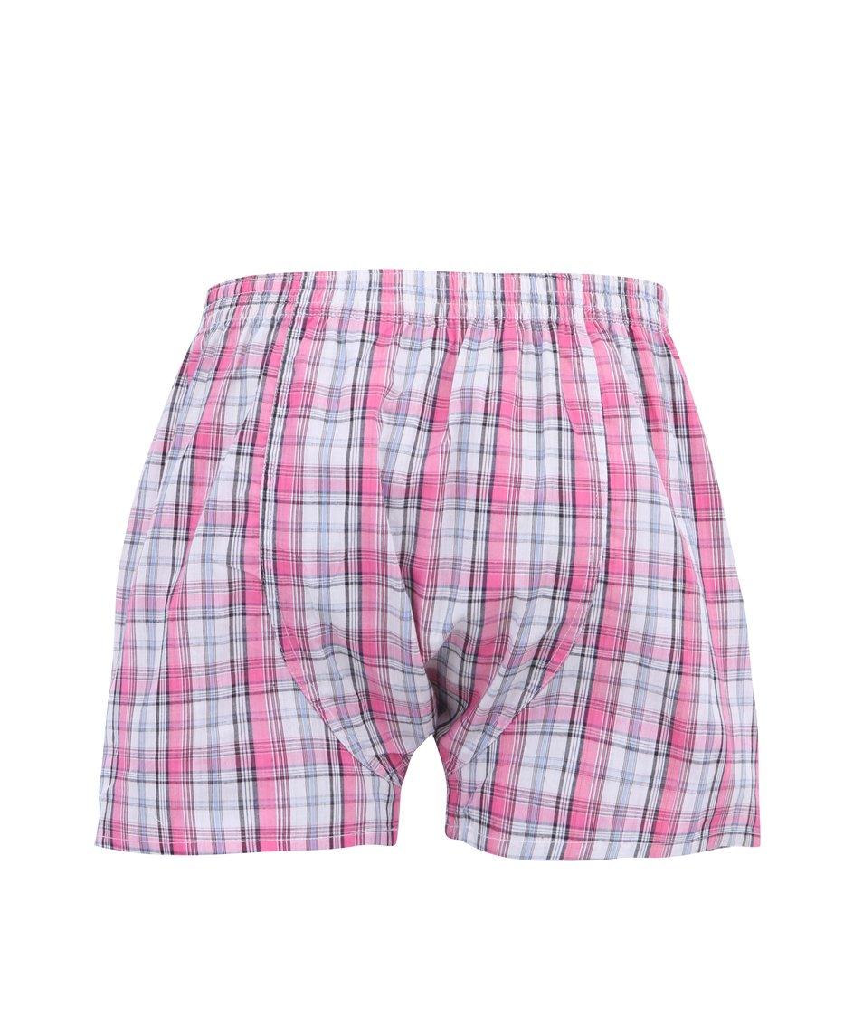 Bílo-růžové kárované trenýrky Represent Classic