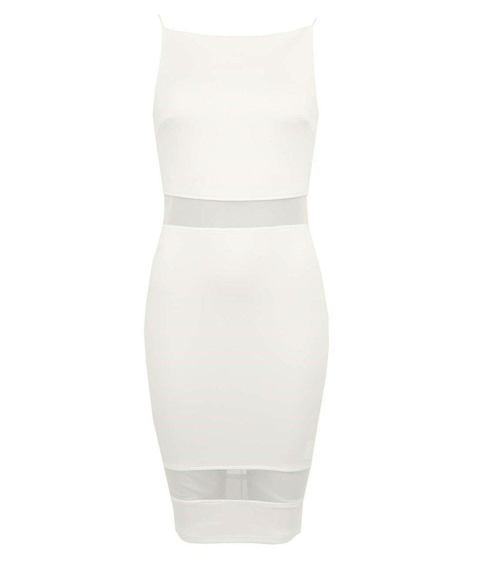 Krémové šaty AX Paris