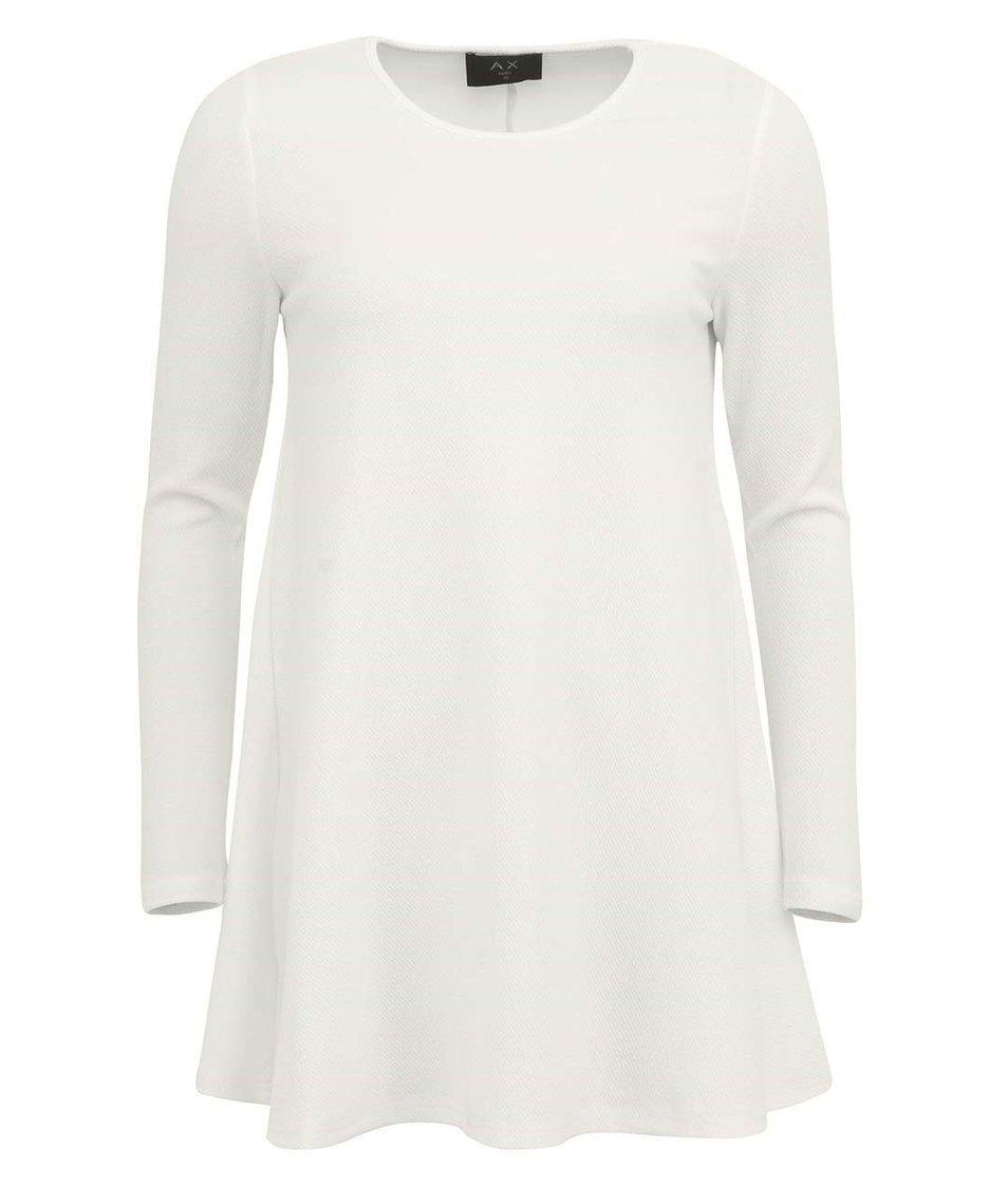 Bílé šaty s dlouhým rukávem AX Paris