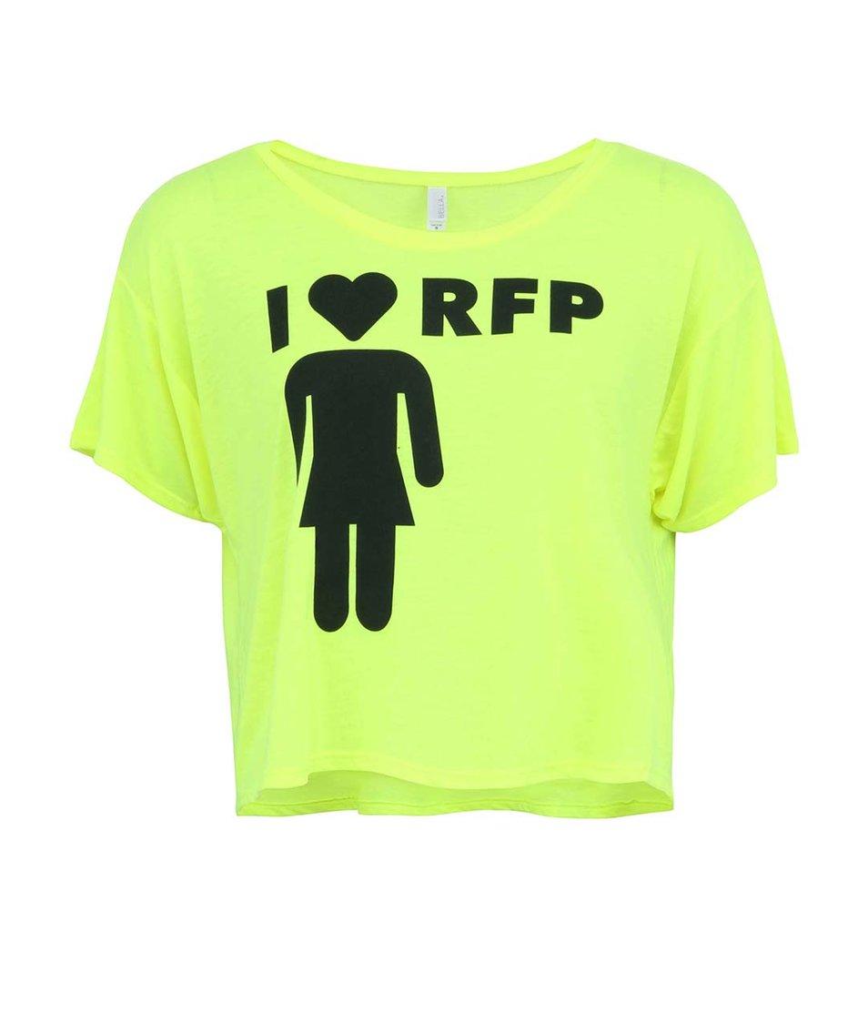 Neonově žluté dámské tričko ROCK FOR PEOPLE