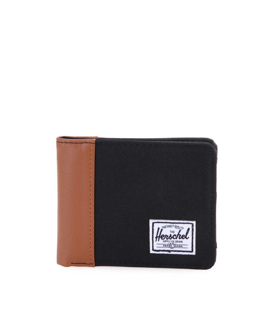Hnědo-černá pánská peněženka Herschel Edward