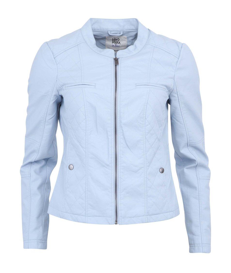 Světle modrá krátká bunda na zip Vero Moda Ibiza