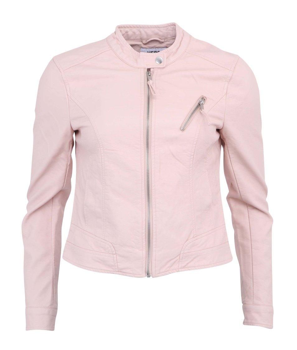 Světle růžová bunda Vero Moda Irina