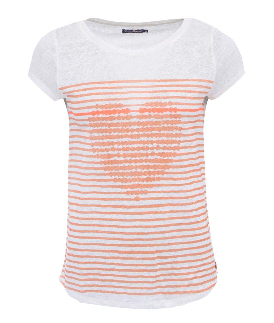 Oranžovo-krémové pruhované triko Little Marcel Toca