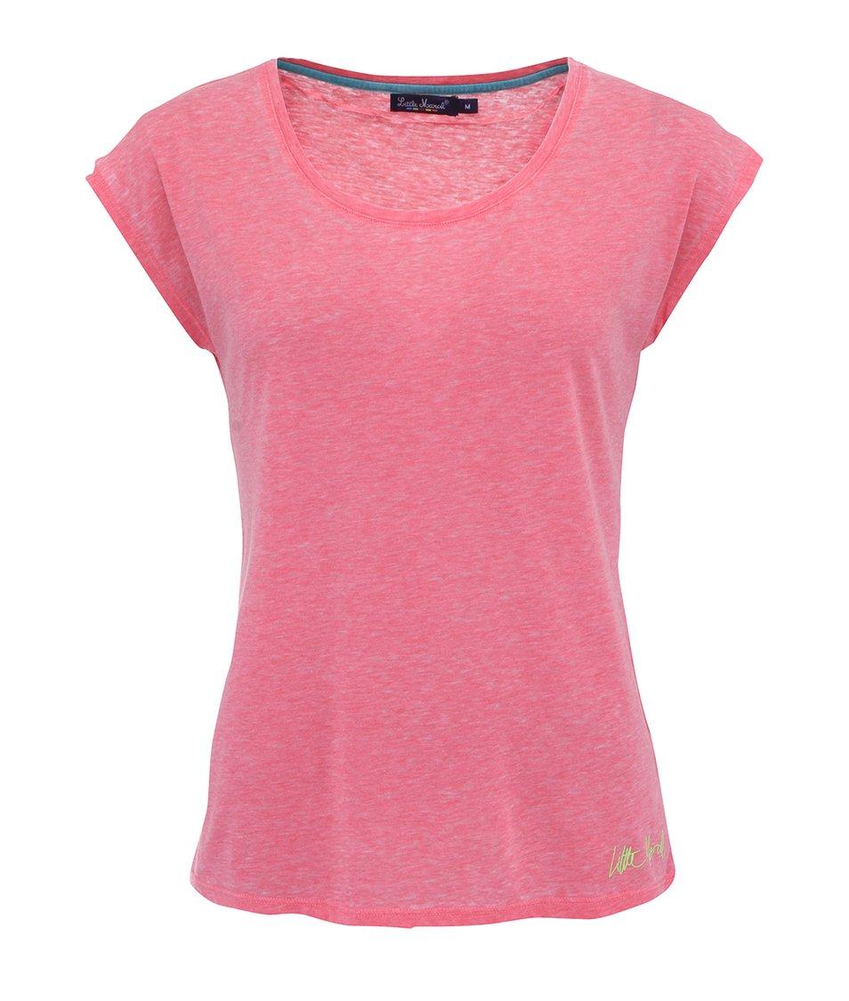 Růžové triko s krátkými rukávy Little Marcel Tima
