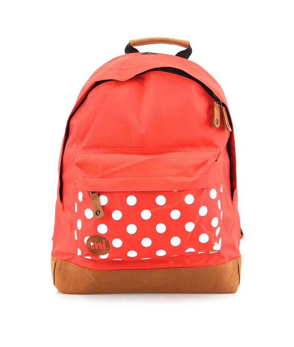 Červený batoh s puntíky Mi-Pac Polkadot
