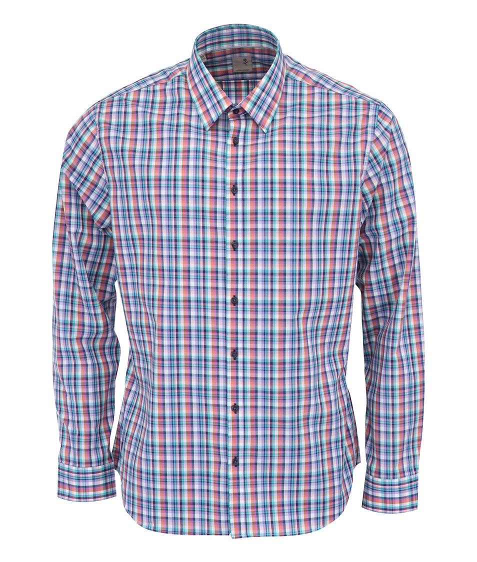Barevná kostkovaná košile Seidensticker Slim Fit