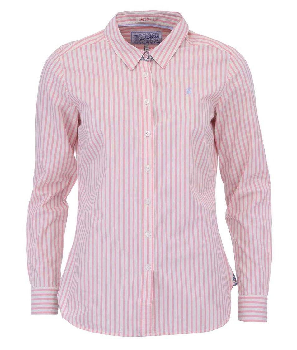 Růžovo-bílá košile Tom Joule Kingston
