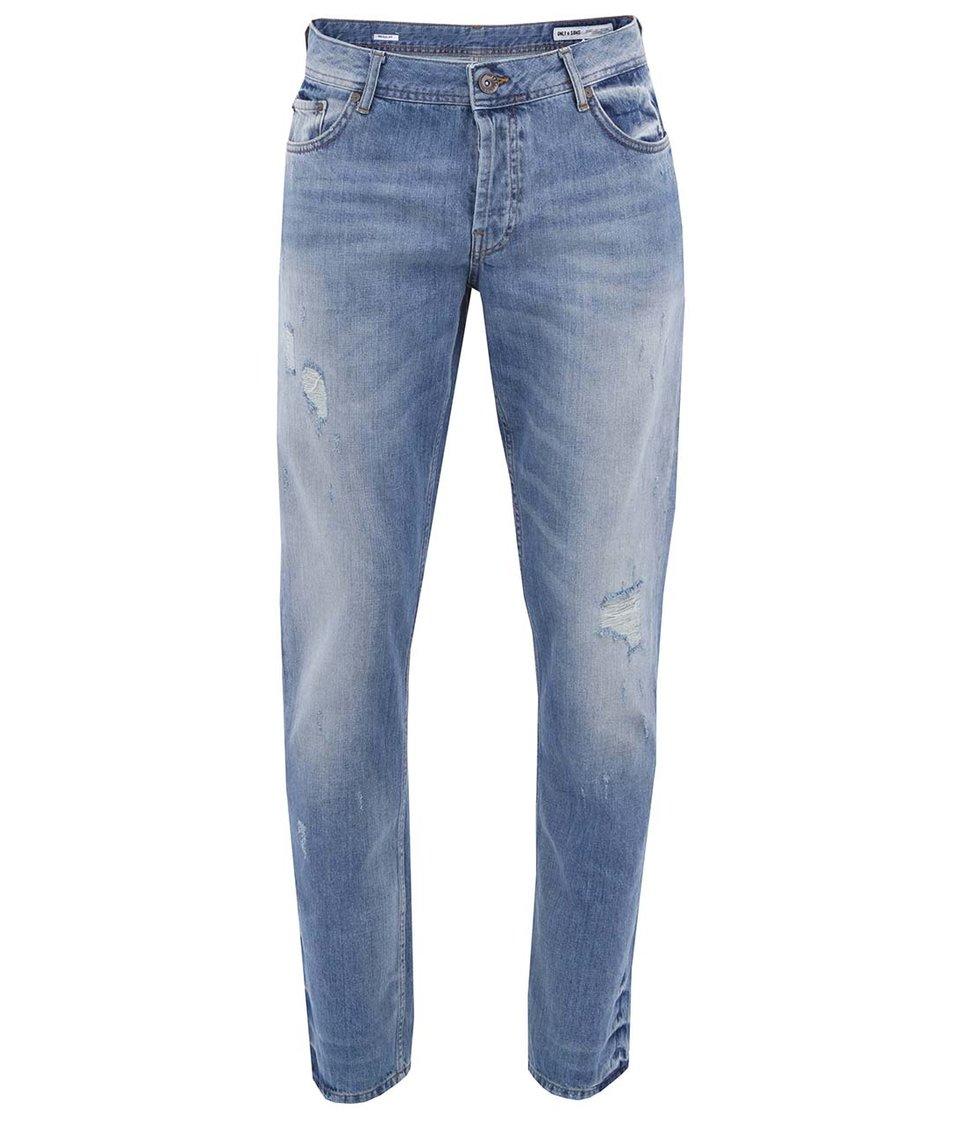 Světle modré pánské džíny ONLY & SONS Avi
