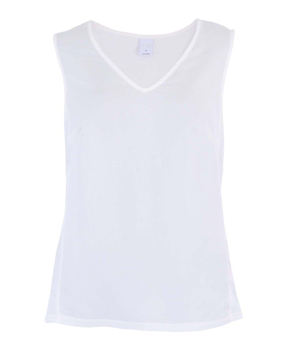 """Bílý top bez rukávů s výstřihem do """"V"""" Vero Moda Good"""