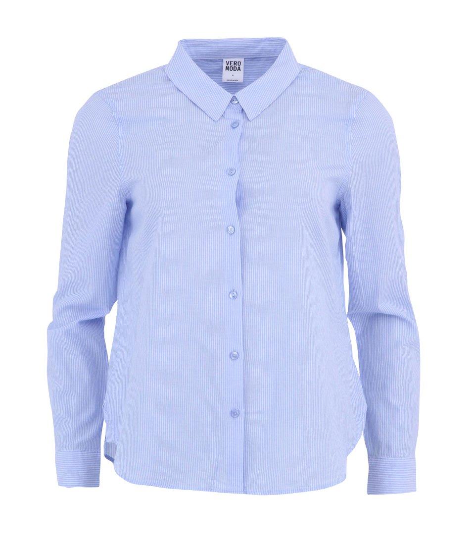 Modrá proužkovaná košile Vero Moda New Blue